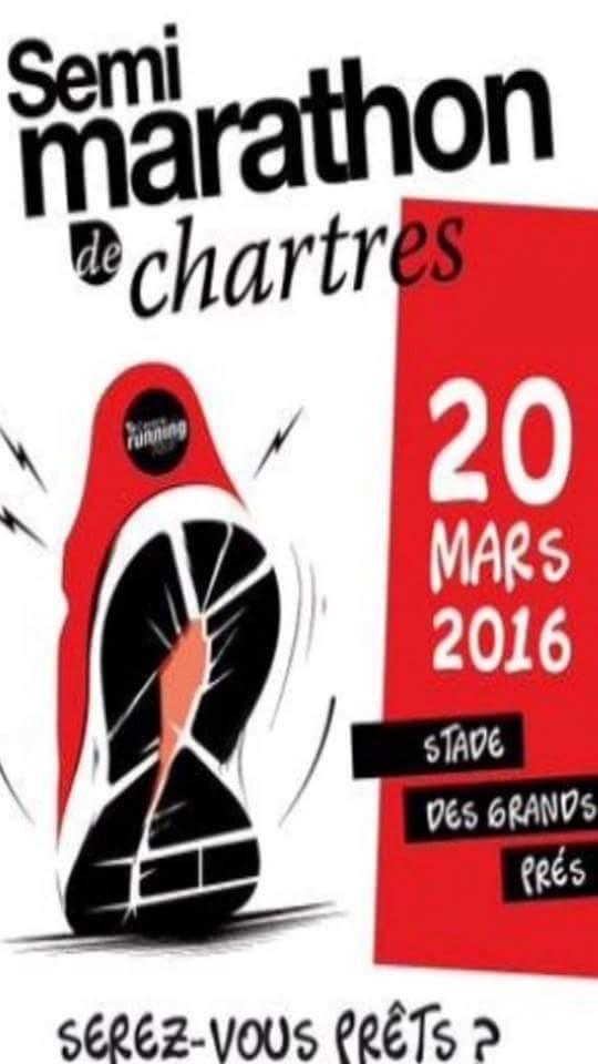 Le Semi marathon de Chartres – 20/03/2016