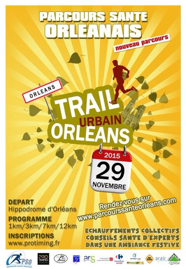 Trail urbain d'Orleans – 29 nov 2015