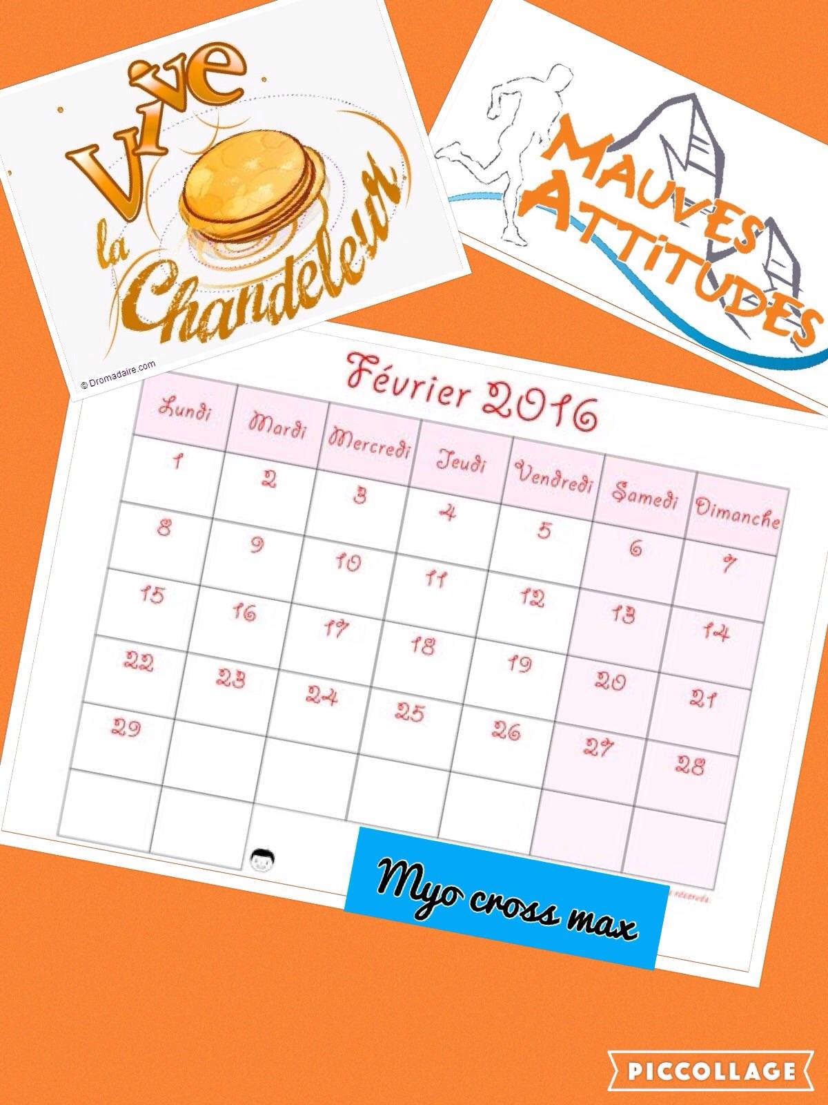 planning du mois de février