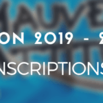 INSCRIPTIONS 2019 – 2020