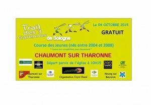 Trail des 3 garennes (Chaumont sur Tharonne – 41) le 2/10/2016