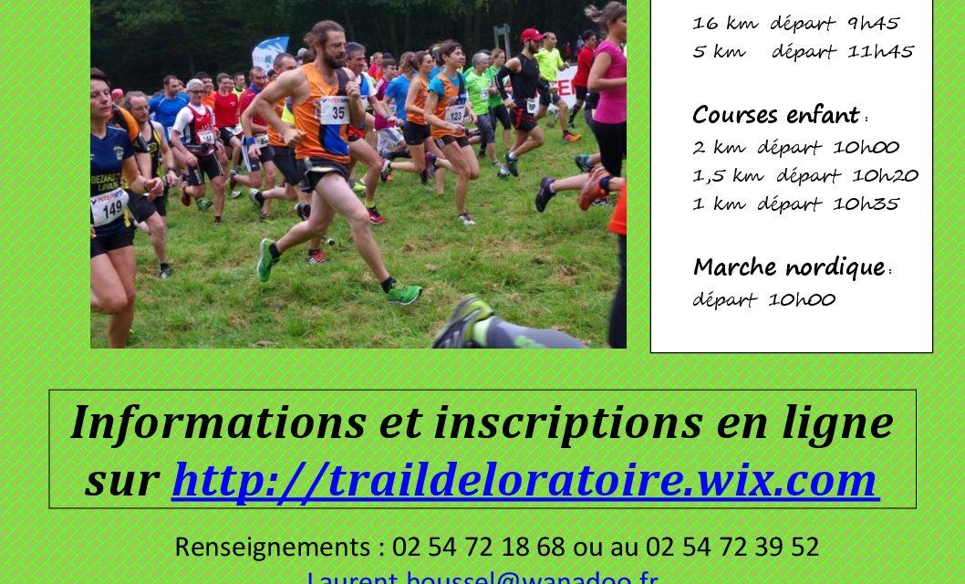 2/10/2016 – Trail de l'oratoire (Vendôme – 41)