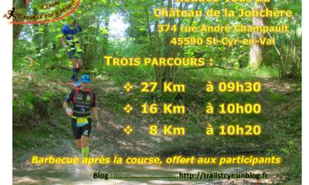 Trail des chateaux de St Cyr (45) – 3/06/18