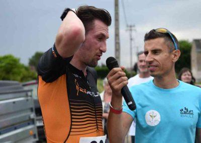 9 - Charley COUTON, 2nd du 12 km et David BARAT au micro